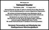 Raimund Deuster : Nachruf