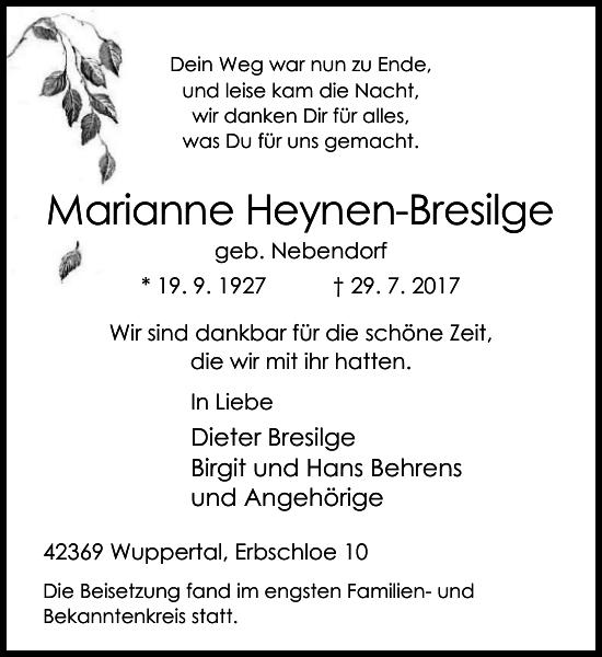 Marianne Heynen-Bresilge