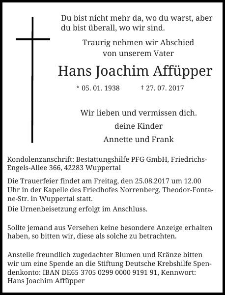 Hans Joachim Affüpper