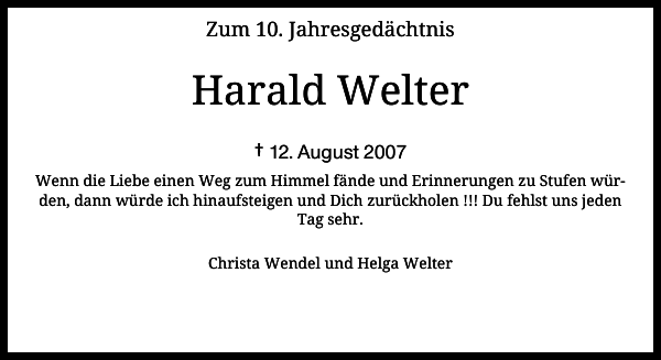 Harald Welter