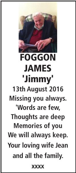 FOGGON JAMES