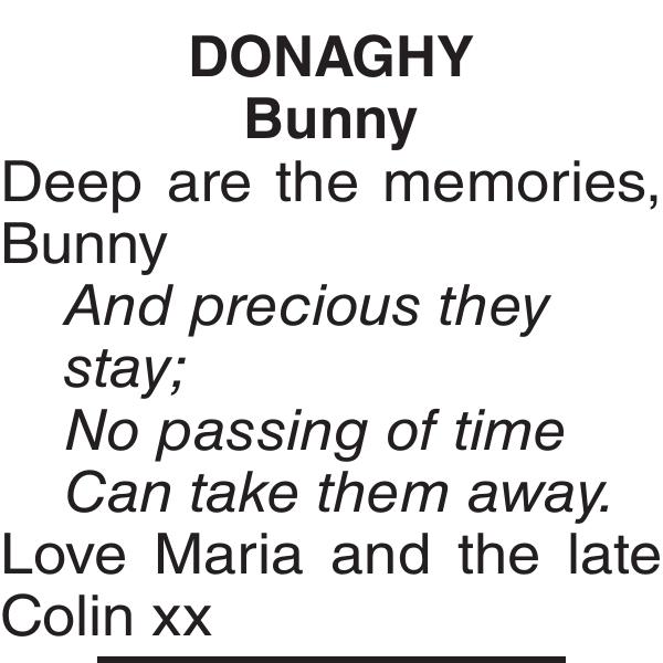 DONAGHY Bunny