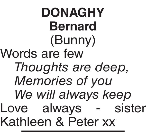 DONAGHY Bernard