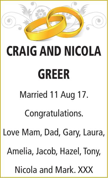 CRAIG : Wedding