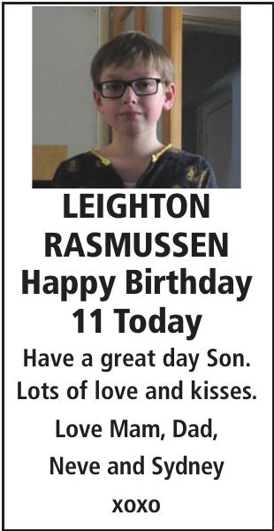 LEIGHTON RASMUSSEN : Birthday