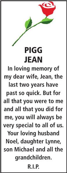 PIGG JEAN : Memorial