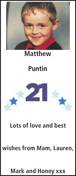 Matthew Puntin : Birthday