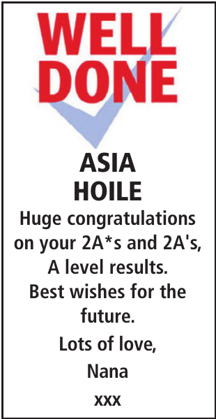 ASIA HOILE : Exam Results