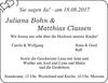 Juliana Bohn Matthias Classen