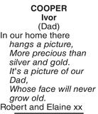 COOPER Ivor : Memorial
