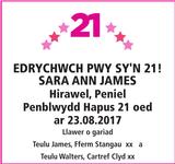 EDRYCHWCH PWY : Birthday