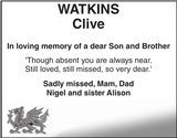WATKINS Clive : Memorial