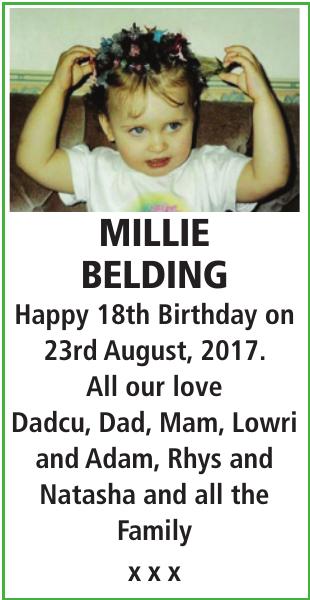 MILLIE BELDING : Birthday