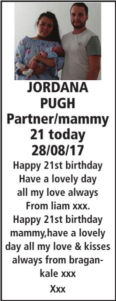JORDANA PUGH : Birthday