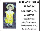 BRITTANY HULL : Birthday