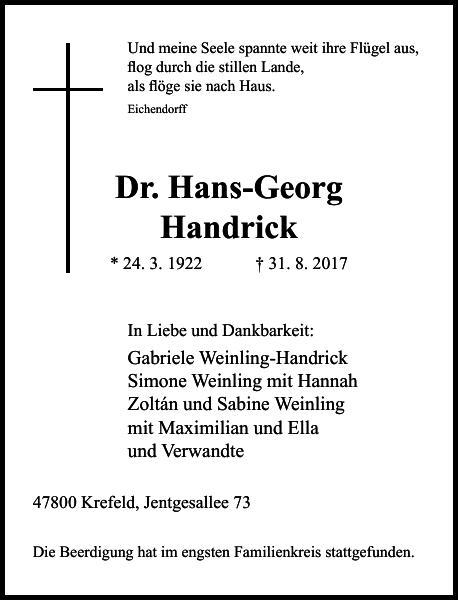 Dr. Hans-Georg Handrick