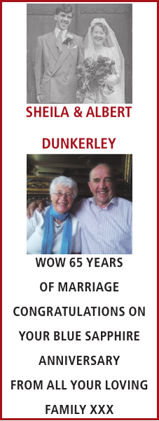 Anniversary notice for SHEILA