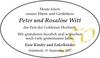Peter und Rosaline Witt