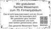 Wesemann Firmenjubiläum