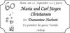 Maria und Carl Jürgen Christiansen