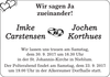Imke Carstensen Jochen Korthues