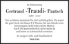 Gertraud -Traudi- Pautsch
