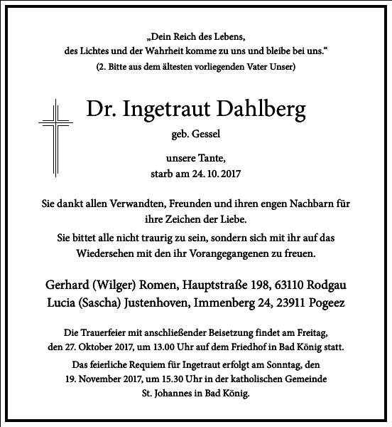 Dr. Ingetraut Dahlberg