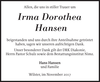 Irma Dorothea Hansen