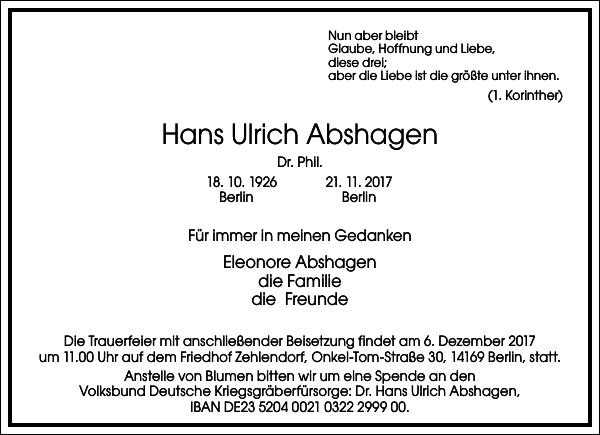 Hans Ulrich Abshagen