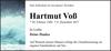 Hartmut Voß