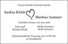 Saskia Klink Markus Sommer