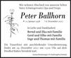Peter Ballhorn