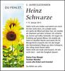 Anzeige für Heinz Schwarze