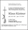 Anzeige für Klaus Kästner