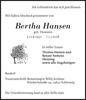 Bertha Hansen