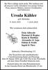 Ursula Kähler