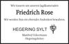 Friedrich Rose