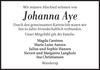 Johanna Aye