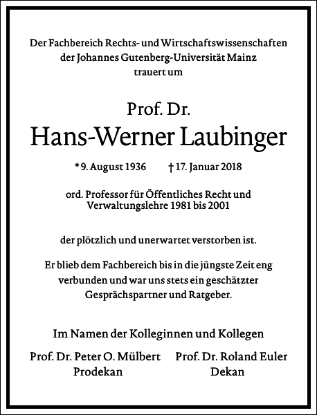 Hans-Werner Laubinger