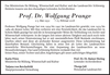 Prof. Dr. Wolfgang Prange