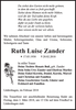 Ruth Luise Zander