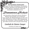 Diamantenen Hochzeit Liesbeth und Günther Junger