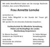 Frau Annette Lemcke