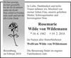 Rosemarie Wilde von Wildemann