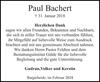 Paul Bachert