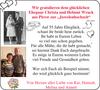 Ehepaar Christa und Helmut Wruck Pirow Juwelenhochzeit