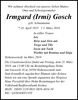 Irmgard Irmi Gosch