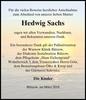 Hedwig Sachs