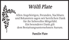 Wölfi Plate