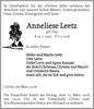 Anneliese Leetz